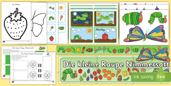 Die Kleine Raupe Nimmersatt Display Materialien für die Klassenraumgestaltung - Die Kleine Raupe Nimmersatt, Klassenraumgestaltung ,German