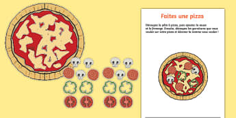 Pizza Parlour Build a Pizza Activity French - Pizza Parlour Role Play Pack, pizza, hut, express, restaurant, dinner, eating, food, take, out, away