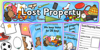 Lost Property Role Play Pack - lost property, role play, role play pack, lost property role play, resource pack, pack of resources, lost property pack