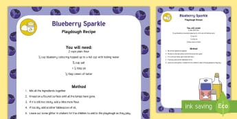 Blueberry Sparkle Playdough Recipe - blueberry sparkle, playdough, recipe