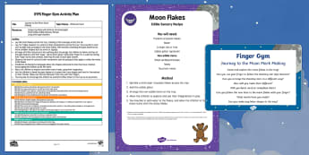 EYFS Journey to the Moon Mark Making Finger Gym Plan and Resource Pack - Whatever Next, Jill Murphy, space, fine motor control, muscle strength, pincer grip, sensory play, m