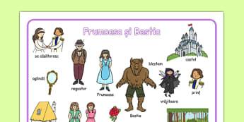 Frumoasa și Bestia - Planșă imagini și cuvinte