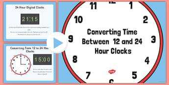 12 and 24 Hour Clock Conversion - 12, 24, hour, clock, conversion, 12 hour, 24 hour, clock conversion, time