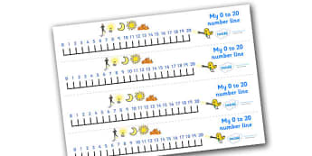 0-20 Number Line (Light and Dark) - Counting, Numberline, Number line, Counting on, Counting back, Light and Dark, Day and Night, A4, display, science, day, night, shadow, reflection, reflective, bright, tint, colour, shade