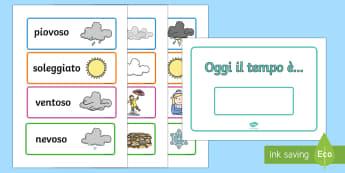 Il Meteo Previsioni da Esporre Attività - il, tempo, meteo, calendario, previsioni, del , tempo, esposizione, decorazione, italiano, italian