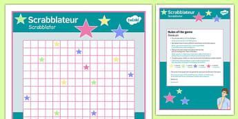 Scrabblateur Board Game Polish Translation - polish, scrabblateur, board game, board, game, activity