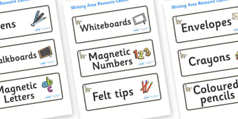 Lemur Themed Editable Square Classroom Area Signs (Colourful) - Themed Classroom Area Signs, KS1, Banner, Foundation Stage Area Signs, Classroom labels, Area labels, Area Signs, Classroom Areas, Poster, Display, Areas