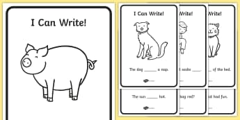 Phase 2 High Frequency Word Sentence Writing Activity Sheet, worksheet