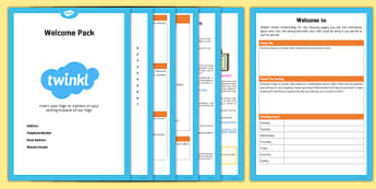 Childminder Welcome Pack - EYFS, timetable, policies, childminder, welcome pack