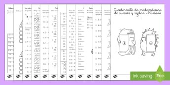 Sumas y restas - Num. 2 Cuadernillo de matemáticas