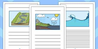 Water Writing Frames - water, writing frames, writing, frames