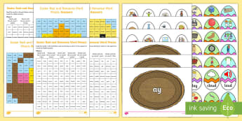 Easter-Themed Phase 5 Phonics Resource Pack - Easter, phonic, phase 5, letters and sounds, bunny, eggs