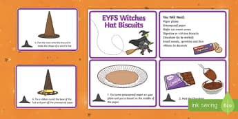 EYFS Witches' Hats Biscuits Recipe Cards