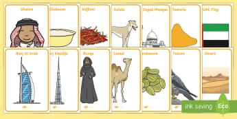 UAE National Day (2nd December) Key Word Display Posters