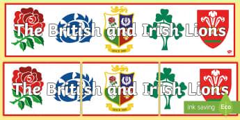 The British and Irish Lions Display Banner - NI - The Lion\'s Tour rugby British Irish match