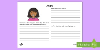 Feeling Angry Reflection Writing Template - feelings, emotions, S.P.H.E., reflection, writing template, activity sheet, actions, consequences, a