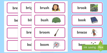 'br' and 'b' Near Minimal Pair Word Cards - phonology, articulation, cluster reduction, cluster simplification, speech sounds