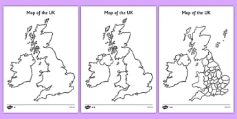 Blank UK Map - blank, uk, map, uk map, britain, islands, blank map