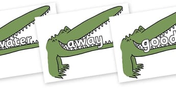 Next 200 Common Words on Enormous Crocodile to Support Teaching on The Enormous Crocodile - Next 200 Common Words on  - DfES Letters and Sounds, Letters and Sounds, Letters and sounds words, Common words, 200 common words