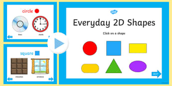 Every Day 2D Shapes PowerPoint - early years, shape, maths