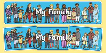 Banderole d'affichage : Ma famille - Anglais LV