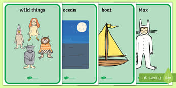Display Posters to Support Teaching on Where the Wild Things Are - Where the Wild Things Are, Maurice Sendak, Wild Things, resources, Max, wild rumpus, boat, wolf suit, dream, fantasy, story, story book, story book resources, story sequencing, story