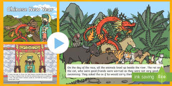 Chinese New Year Story PowerPoint - powerpoint, power point, interactive, powerpoint presentation, chinese new year, chinese new year story, chinese new year story presentation, chinese new year story powerpoint, chinese new year powerpoint, story, p