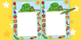 Themed Editable Notes to Support Teaching on The Very Hungry Caterpillar - praise notes