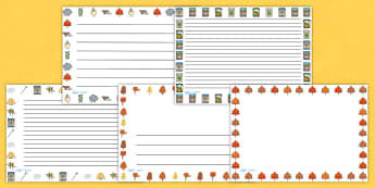 Autumn Page Borders Landscape - seasons, weather, templates