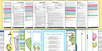 Number Rhymes Parachute Activities Adult Input Planning and Resource Pack - EYFS planning, early years activities, number, counting, changes in quantity, adult led