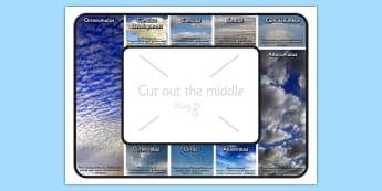 Cloud Type Identifier Visual Aid - clouds, science, visual aid