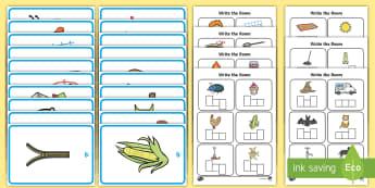 Write the Room CVC Words Activity Sheet - CVC, phonics, phase 2, phase 3, write, writing, scribe, phoneme frame,