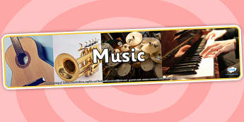 Music Photo Display Banner - music, photo display banner, photo banner, display banner, banner,  banner for display, display photo, display, images, pictures
