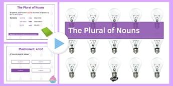 Le pluriel des noms Présentation - french, plural, nouns, presentation, powerpoint