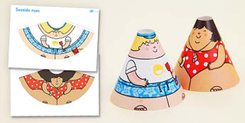 Seaside Cone Characters - seaside, cone, characters, activity
