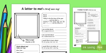 A Letter To Myself Writing Activity English / Afrikaans - A Letter To Myself Writing Activity - letters, ourselves, write, oursleves, leters, lettes, ourselvs