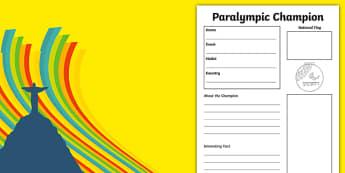 Rio 2016 Paralympics Champion Fact File