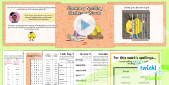 PlanIt Spelling Year 6 Term 2B W6: Statutory Spelling Challenge Words Spelling Pack - Spellings Year 6, Y6, spelling, spell, words, weeks, weekly, statutory, appendix 1, list, common exc
