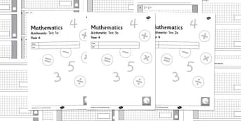 Year 4 Arithmetic Half Tests - year 4, arithmetic, half tests