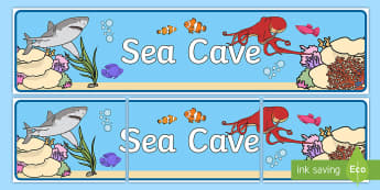 Sea Cave Display Banner - All At Sea Banner - all at sea, sea banner, sea display banner, all at sea display banner, display b