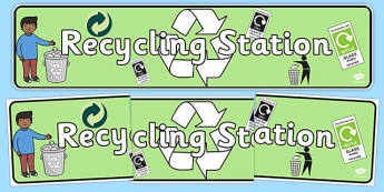 Recycling Station Display Banner - recycling station, display banner, display, banner, recycle, station