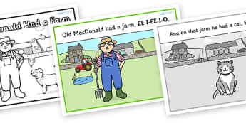 Old MacDonald Had a Farm Sequencing - Old MacDonald Had a Farm, nursery rhyme, rhyme, rhyming, nursery rhyme story, nursery rhymes, farm, farm animals, action song, Old MacDonald resources