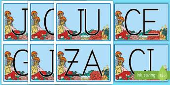 Tarjetas de sílabas: Bajo el mar - Bajo el mar, proyecto, primeras, lecto, lectura, leer,Spanish