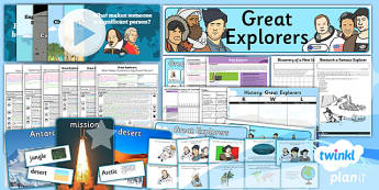 PlanIt - History KS1 - Great Explorers Unit Pack Flipchart