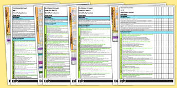 Guided Reading Questions by National Curriculum Aim and Phase