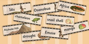 Kingdom of Benin: Bini Creation Story Word Cards