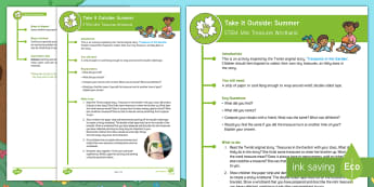 KS1 Take It Outside: Summer Mini Treasures Wristband Activity - forest school, nature detectives, outdoor learning, treasure hunt, treasures in the garden