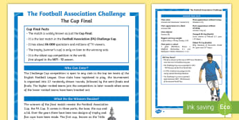 FA Cup Differentiated Fact File - KS2, Events, Football, FA Cup, UKS2, LKS2, Upper Key Stage Two, Lower Key Stage Two, Upper Key Stage