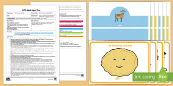 EYFS One More to Chase the Runaway Pancake Adult Input Plan and Resource Pack - EYFS, Early Years planning, adult led, The Runaway Pancake, traditional tales, pancake day, Shrove T
