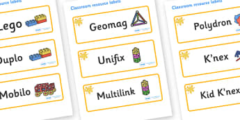 Orange Themed Editable Construction Area Resource Labels - Themed Construction resource labels, Label template, Resource Label, Name Labels, Editable Labels, Drawer Labels, KS1 Labels, Foundation Labels, Foundation Stage Labels